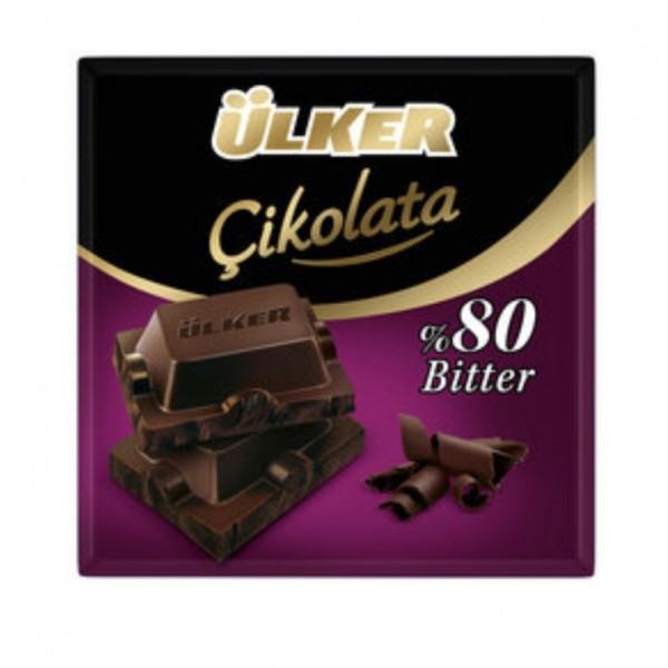 Ulker %80 Bitter Dark Chocolate 60gr