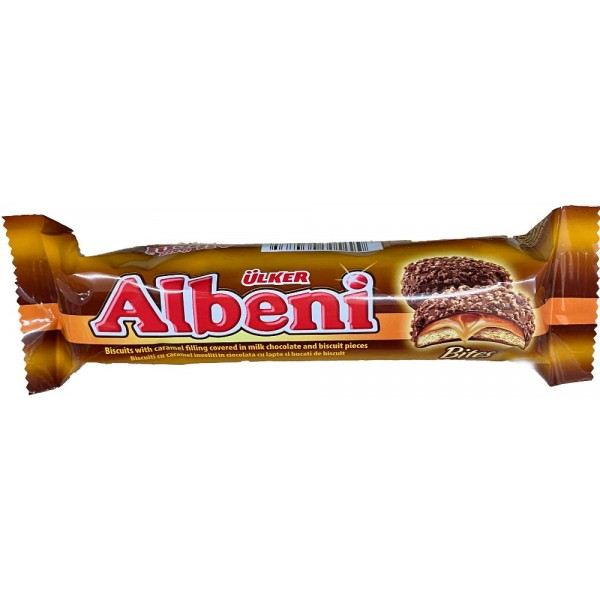 Ulker Albeni Biscuits With Caramel Filling Covered In Milk Chocolate And Biscuit Pieces 75gr