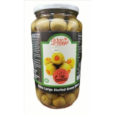 Village Extra Large Stuffed Green Olives 907g