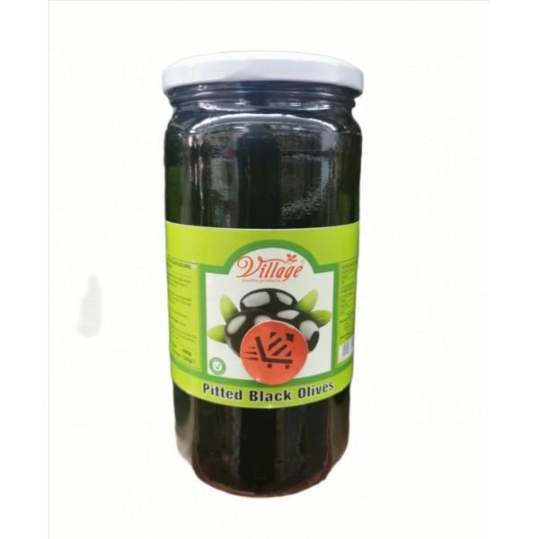 Village Pitted Black Olives 690g