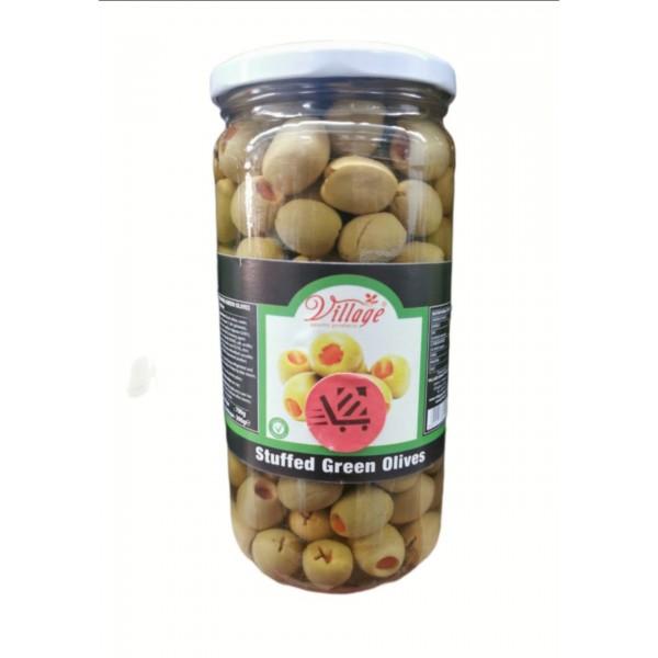 Village Stuffed Green Olives 700g