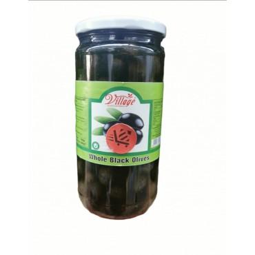 Village Whole Black Olives 700g